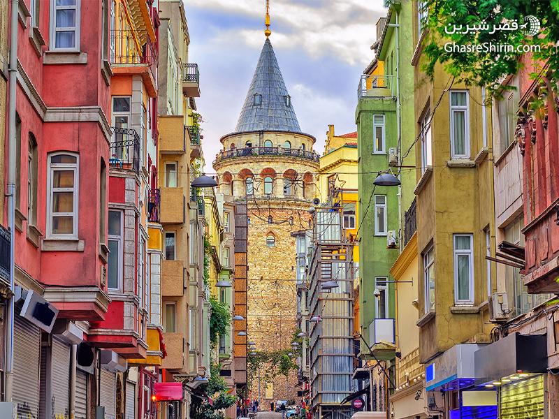 برج گالاتا در جاذبه های گردشگری استانبول