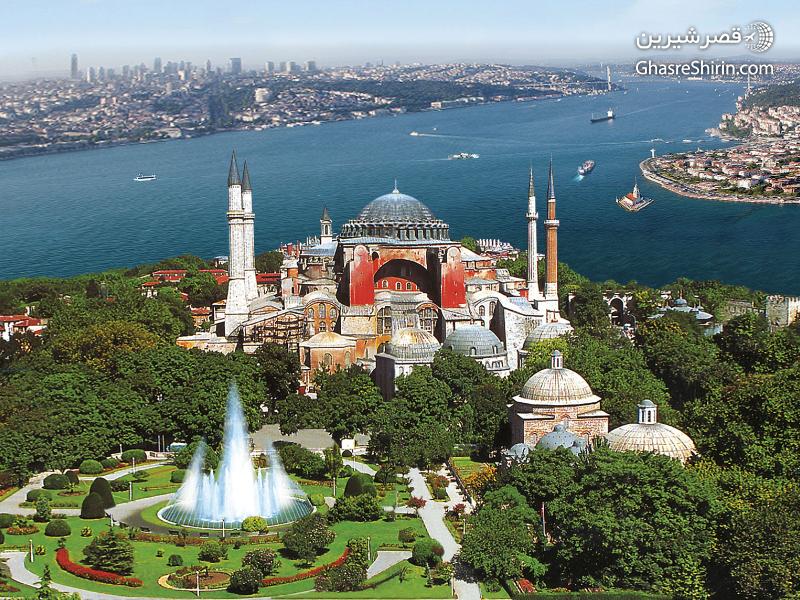 مسجد ایاصوفیه در جاذبه های گردشگری استانبول