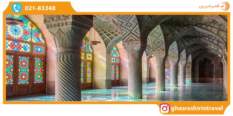 نمای داخلی مسجد نصیرالملک